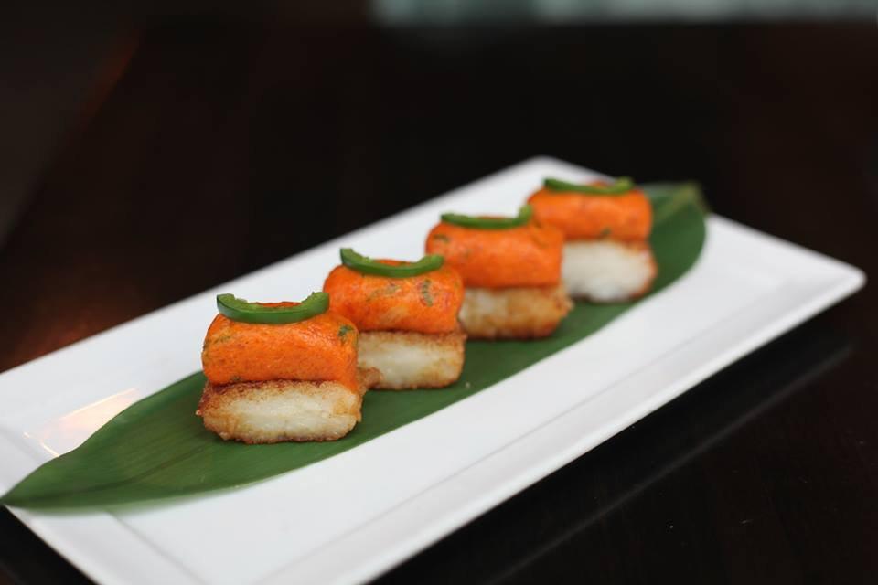 Koi Crispy Rice with Spicy Tuna