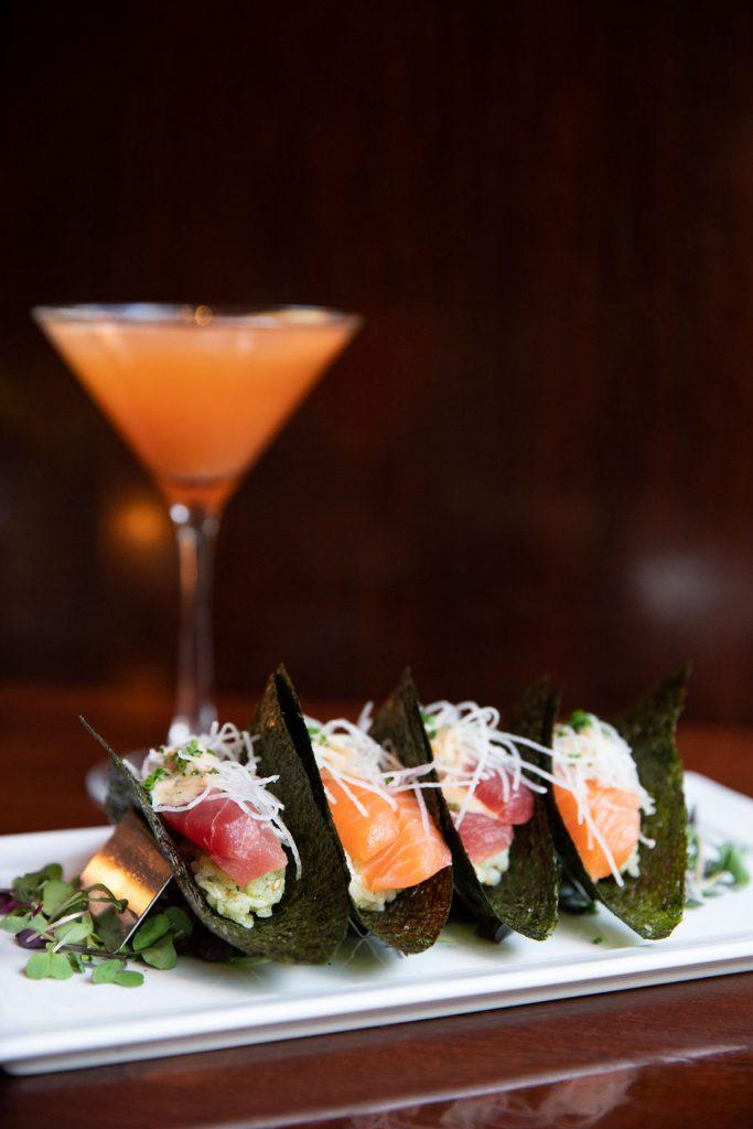 Very Berry Martini & Sashimi Tacos