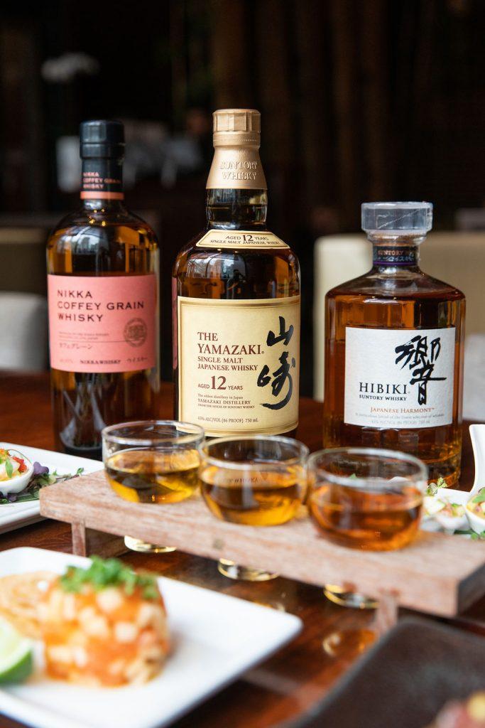 a Coffey Grain Whisky, The Yamazaki Whisky, Hiniki Whisky