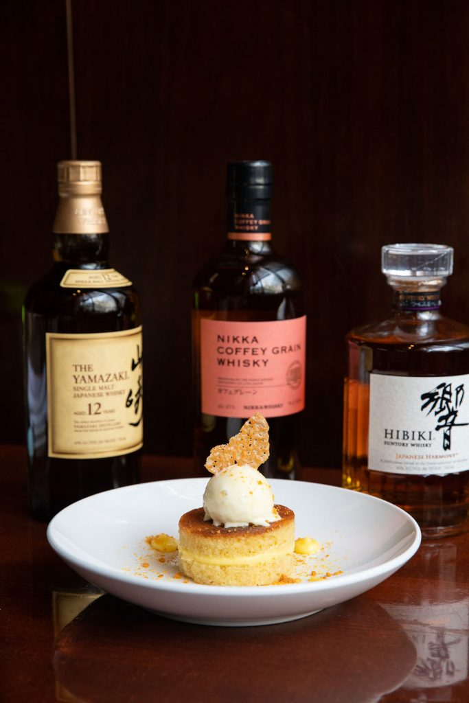 Japanese Whisky, Butterscotch Pudding Crème Fraiche, Caramelized Pecans & Chamomile Honey Cookies