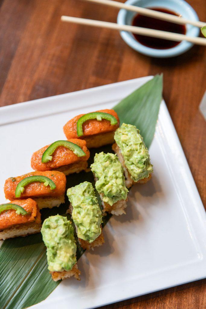 KOI Crispy Rice w/ Spicy Tuna & Truffle Avocado
