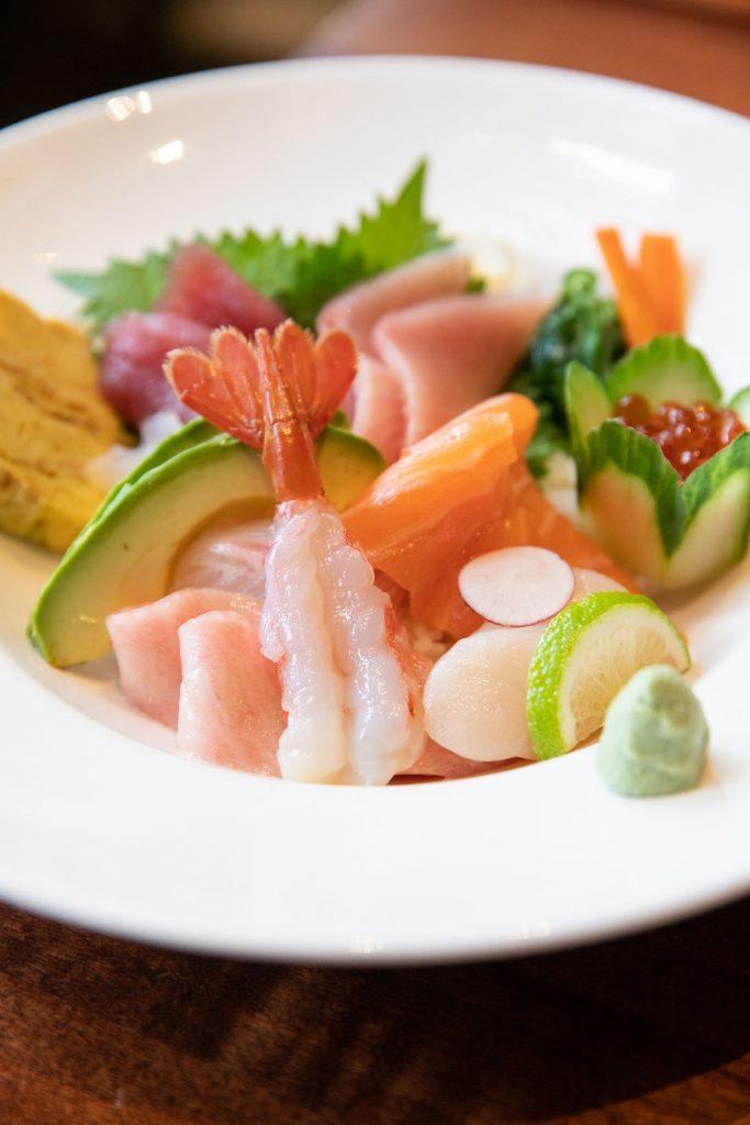 Koi Sashimi Salad Assorted Sashimi, Avocado, Cucumber, Sesame Dressing